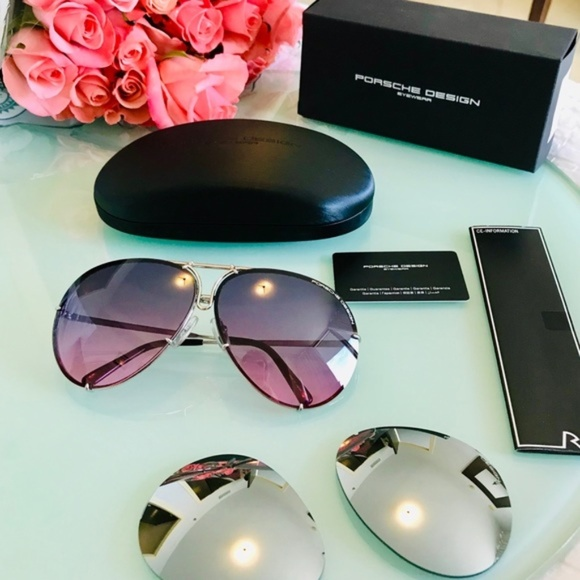 b00fe15c4d9 NWT Porsche Design 63mm P8478 M Purple Sunglasses